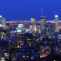 Panoramic Skyline of Montreal, Quebec, Canada