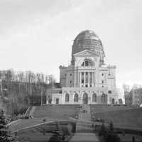 Saint Joseph's Oratory Dome under construction in 1937 in Montreal, Quebec, Canada