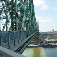 View from the Jacques-Cartier Bridge in Montreal, Quebec, Canada
