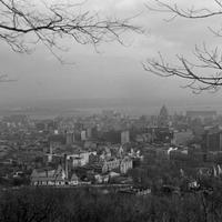 View of Montreal from Mount Royal in 1939 in Quebec, Canada
