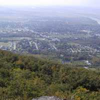 Landscape view from Mont Saint-Hilaire in Quebec, Canada