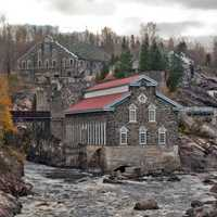 Old Chicoutimi Pulp Mill in Sanguenay, Quebec, Canada