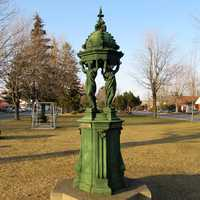 Wallace fountain at Isabelle park in Quebec, Canada