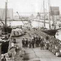 Port of Quebec City in the early 20th century in Canada