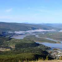 Landscape around Dawson City in the Yukon Territory