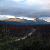 Nahanni Range Road near Tuchitua in the Yukon Territory, Canada