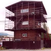 Three-story log skyscraper in Whitehorse, Yukon Territory