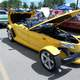 Yellow Hot Rod Car with Hood open