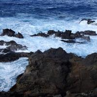 Rocky Coastline of Easter Island, Chile