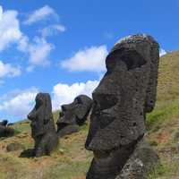 Statue on Easter Island, Chile
