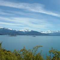 General Carrera lake, the largest lake in Chile landscape