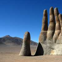 Hand in the Atacama Desert in Chile