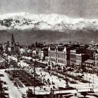 Alameda view of Santiago, Chile in 1930