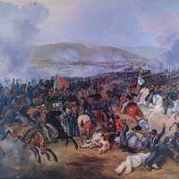 Battle of Maipú around Santiago, Chile