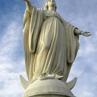 The statue of the Virgin Mary in Santiago, Chile