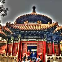 Artist Style Temple in Beijing, China