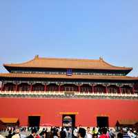 Entrance Gate into the Forbidden City in Beijing, China