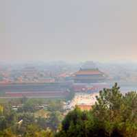 Far view of Forbidden City in Beijing, China
