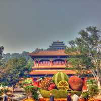 Hill and front of Jingshan in Beijing, China