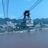 Cable Railway over Yangtse River in Chongqing, China
