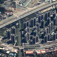 Aerial View of Shenzhen High Rises