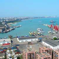 Haikou Xiuying Port cityscape overview
