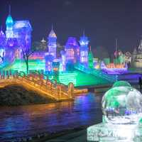 Ice Sculpture City in Harbin