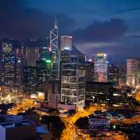Night time Cityscape in Hong Kong