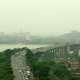 Wuhan Banner Bridge over the river Panoramic