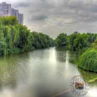 Riverside landscape in Nanjing, China