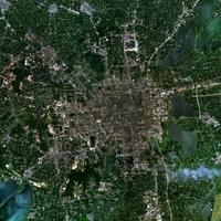 Satellite Image of Suzhou, Jiangsu, China