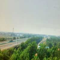 Highway and countryside in Shandong, China
