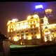 Cityscape of the Bund at Night in Shanghai, China