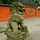 Guardian Lions outside Daci Temple in Chengdu, Sichuan, China