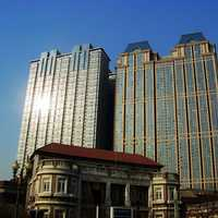 Big building and tower in Tianjin, China