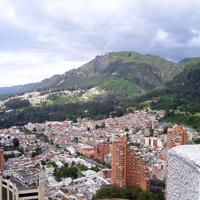 Bogota Cityscape with mountains in Colombia