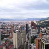 Buildings and skyscrapers in Bogota, Colombia