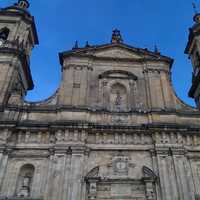 Close-up of the Cathedral in Bogota, Colombia