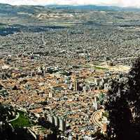 Panoramic Cityscape of the Metropolis of Bogota, Colombia