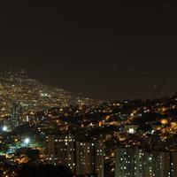 Night Cityscape and lights in Medellin, Colombia