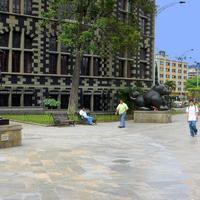 Plaza Botero with Museum of Antioquia in Colombia, Medellin