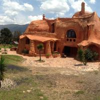 Clay Earthen House in Village Leyva, Colombia