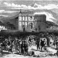 Crowd in San Jose, Costa Rica 1856.