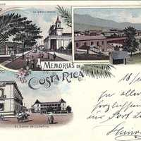 Early Postcard from San Jose, Costa Rica in 1898