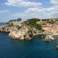 Coastal Cityscape and Landscape in Dubrovnik, Croatia