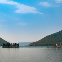 Landscape of the Bay of Kotor in Croatia
