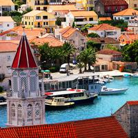 Resorts and boats in a Croatian Town