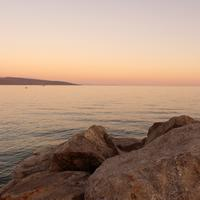Sunset on the Lakeshore in Croatia