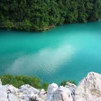 Blue-Green waters of Plitvice Lakes National Park, Croatia
