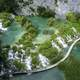 Walkway Between the Lakes at Plitvice Lakes National Park, Croatia